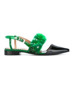 Toga Pulla | Ruffle And Sequin Embellished Sandals Size 36
