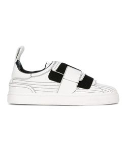 Paco Rabanne | Velcro Strap Trainers 39 Calf Leather/Rubber/Leather