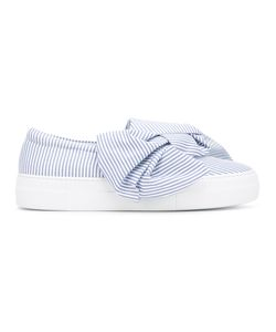 Joshua Sanders | Bow Striped Slip-On Sneakers Size 40