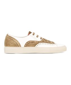 Buttero | Perforated Detail Lace-Up Sneakers 43.5 Calf Leather/Rubber/Leather