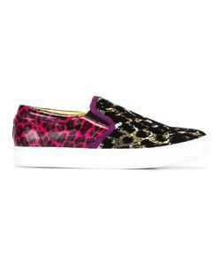 Marc Jacobs | Leopard Print Slip-On Sneakers 39 Pvc/Plastic/Velvet/Nylon