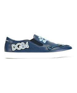 Dolce & Gabbana | London Jazz Patches Slip-On Sneakers 42