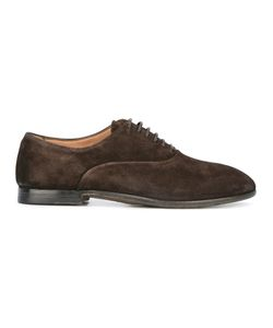Silvano Sassetti | Round Toe Derby Shoes 7.5 Leather/Rubber/Suede