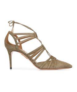 Aquazzura | Lace-Up Sandals 39 Suede/Leather