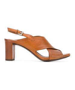 Roberto Del Carlo | Crossover Slingback Sandals Size 37.5 Calf
