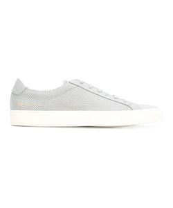 Common Projects | Perforated Detail Lace-Up Sneakers 44 Leather/Rubber