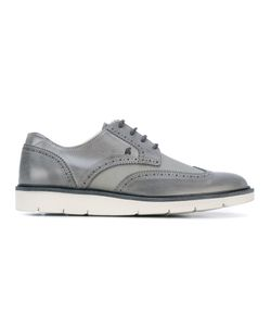 Hogan | Mesh Panel Leather Lace-Up Shoes Calf