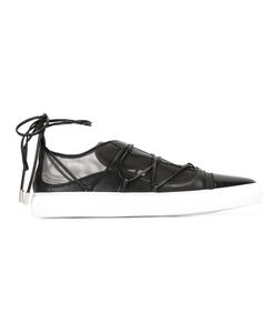 Dsquared2 | Mesh Panel Lace-Up Sneakers 37.5 Leather/Rubber/Nylon