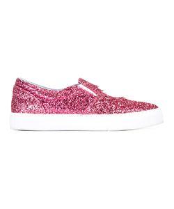 Chiara Ferragni | Findmeinwonderland Slip-On Sneakers 38 Leather/Pvc/Polyurethane/Cotton