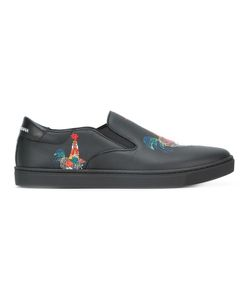 Dolce & Gabbana | London Slip-On Rooster Print Sneakers 41.5