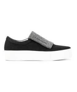 Primury | Contrast Trainers 37 Leather/Rubber/Cotton