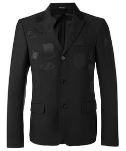 Alexander McQueen | Logo Patch Blazer 50 Wool/Viscose