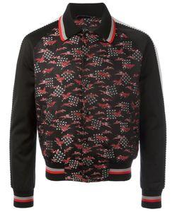Lanvin | Embroide Crane Bomber Jacket 50 Polyester/Silk/Cupro/Viscose