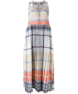 Sea | Pleated Plaid Dress