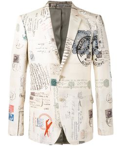 Alexander McQueen | Letters From India Print Blazer Size 48