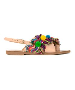 ELINA LINARDAKI | Kefi Sandals 37 Cotton/Calf Leather
