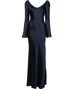 GALVAN | Pleated Trim Dress 34 Silk