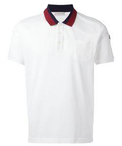 Moncler | Striped Collar Polo Shirt Size Medium