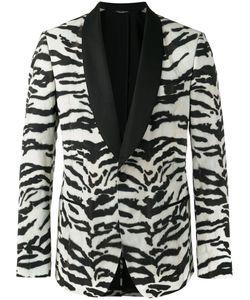 Dolce & Gabbana | Zebra Pattern Jacket Size Silk/Spandex/Elastane/Polyester/Virgin