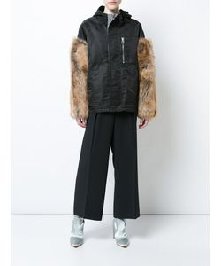 Sandy Liang | Fur Sleeve Hooded Jacket Women Sheep