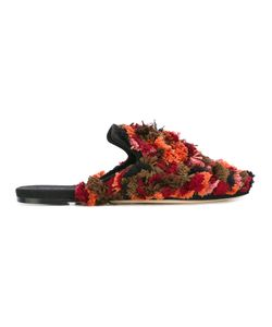 SANAYI 313 | Allover Tassel Mules 39 Silk/Cotton/Leather