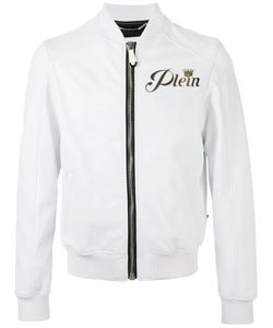 Philipp Plein | Wild Tiger Bomber Jacket Large Leather/Viscose