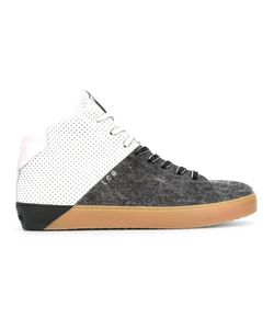 Leather Crown | Contrast Hi-Top Sneakers Size 41