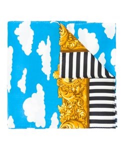 MOSCHINO VINTAGE | Baroque Cloud Striped Scarf Adult Unisex