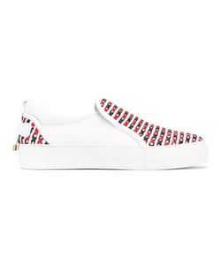 Buscemi   Crossed Detail Slip-On Trainers 42 Calf Leather/Rubber/Leather