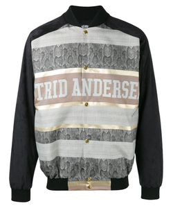 Astrid Andersen | Printed Panel Bomber Jacket Xl
