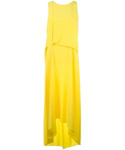Cedric Charlier | Cédric Charlier Draped Asymmetric Dress 42 Silk