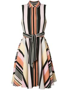 Badgley Mischka | Striped Shirt Dress Size 8