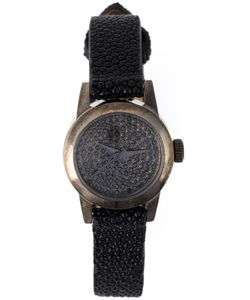 CHRISTIAN KOBAN | Cute Diamond Watch Women Leather Diamond/Stainless
