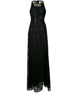 STEFANO DE LELLIS | Embellished Lace Maxi Dress