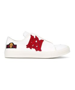 Alexander McQueen | Patch Appliqué Sneakers 42.5 Leather/Cotton/Rubber