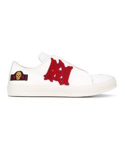 Alexander McQueen | Patch Appliqué Sneakers 42.5 Leather/Cotton/Rubber