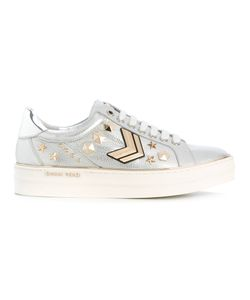 GIANNI RENZI | Embellished Lace-Up Sneakers Size 41