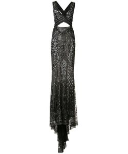 Roberto Cavalli | Crossed Back Embroidered Gown Size