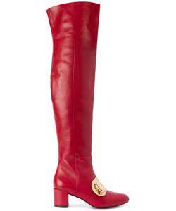 STELLA LUNA | Buckle Detail Over-The-Knee Boots Women