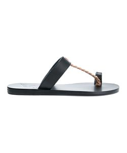 ANCIENT GREEK SANDALS | Melpomeni Flat Sandals Women Leather/Bos