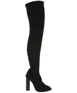 YEEZY | Thigh-Length Boots 36 Polyamide/Leather