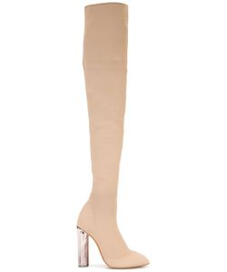 YEEZY | Thigh-Length Boots 38 Leather/Viscose/Acrylic