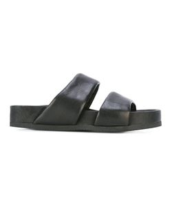 THE LAST CONSPIRACY | Flat Sandals 38 Horse Leather/Leather/Rubber
