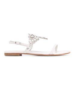 Stuart Weitzman   Embellished Adorno Sandals