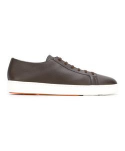 Santoni | Grained Lace Up Trainers 7 Leather/Rubber