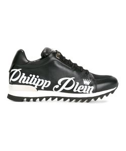 Philipp Plein | Branded Lace-Up Trainers 41.5 Leather/Rubber