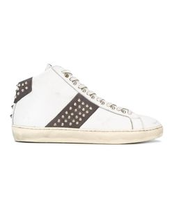 Leather Crown | Studded Hi Tops Size 44