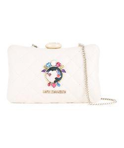 Love Moschino   Face Pin Clutch Bag Polyurethane
