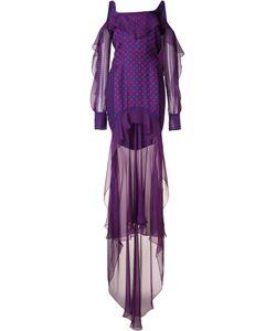 J. Mendel | Dots Print Laye Dress 2 Silk