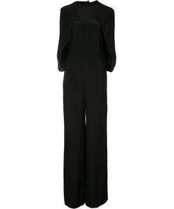 ESTEBAN CORTAZAR | Wide Leg Cape Jumpsuit Size 36